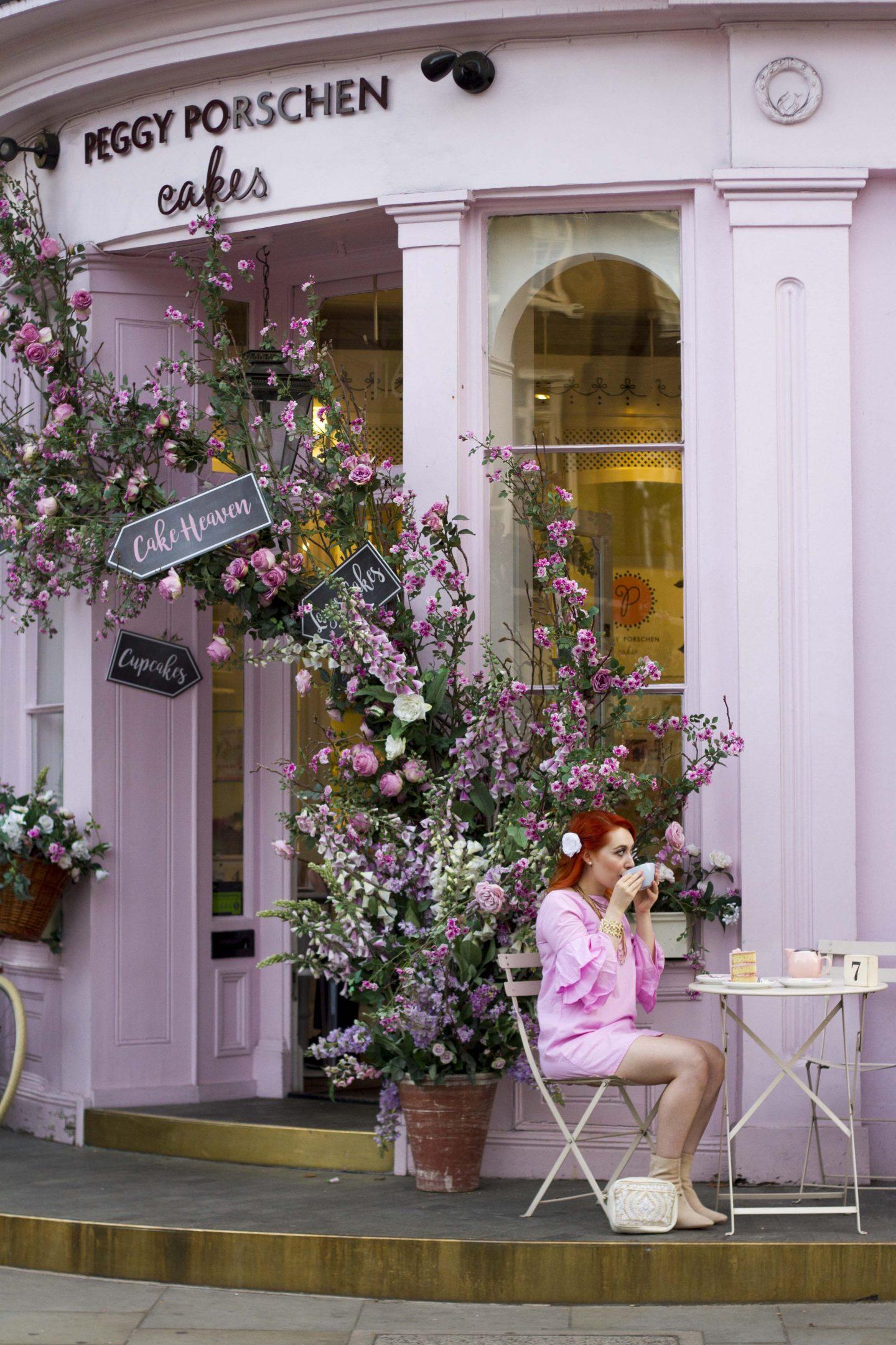 Blogger Twenty-Something City at Peggy Porschen, Kensington, London