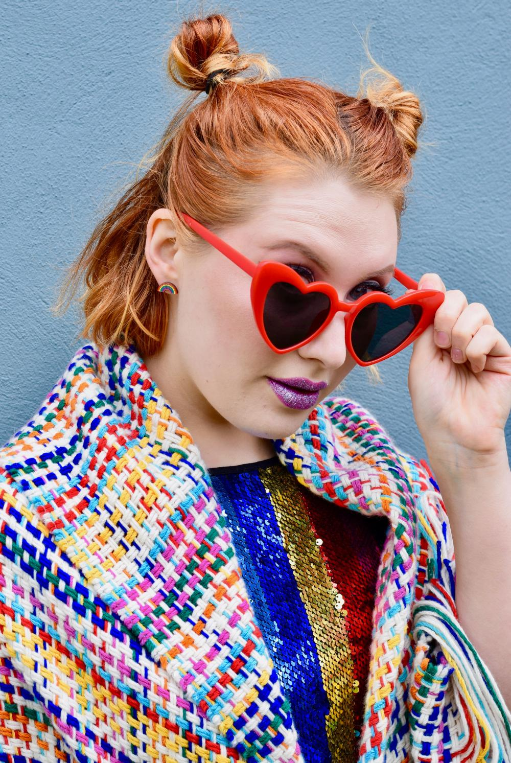 Scottish blogger Styled by Alice wears ethical rainbow fashion ideas for LGBT Pride