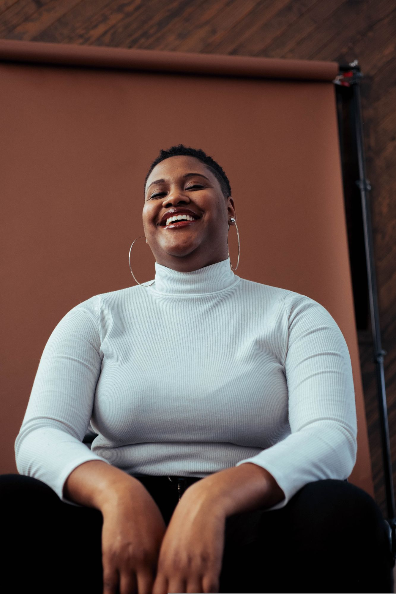 a plus-sized black model showcases why ethical fashion brands need to be more diverse