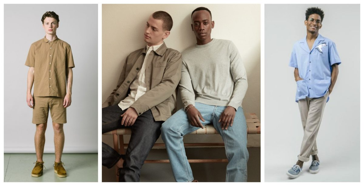ethical menswear brands available in the UK include Peregrine, Asket, and Brothers We Stand