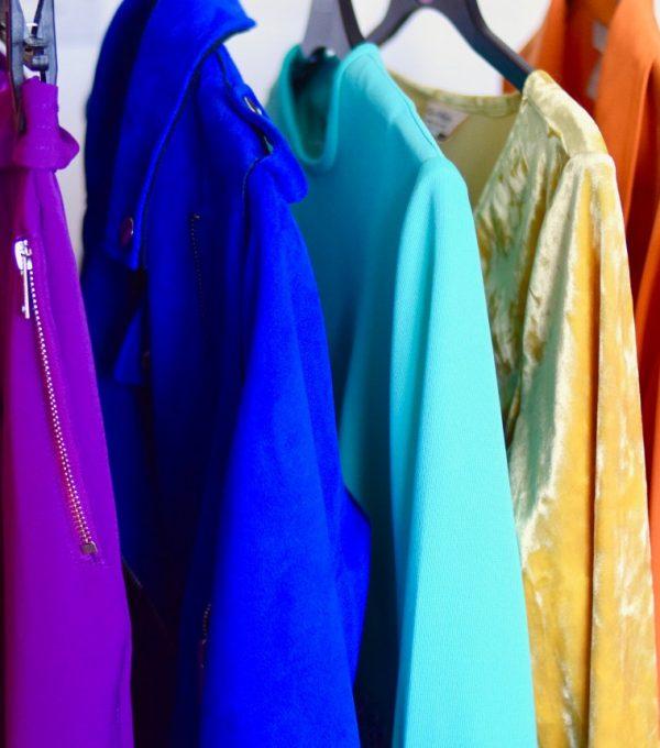 colourful fashion stylist